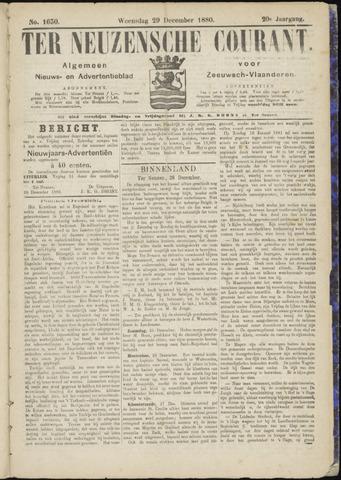 Ter Neuzensche Courant. Algemeen Nieuws- en Advertentieblad voor Zeeuwsch-Vlaanderen / Neuzensche Courant ... (idem) / (Algemeen) nieuws en advertentieblad voor Zeeuwsch-Vlaanderen 1880-12-29