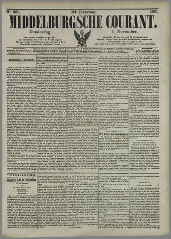 Middelburgsche Courant 1891-11-05