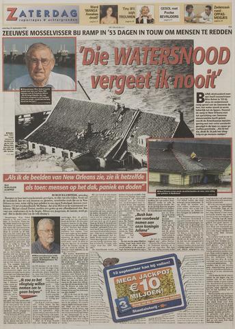 Watersnood documentatie 1953 - kranten 2005-09-10