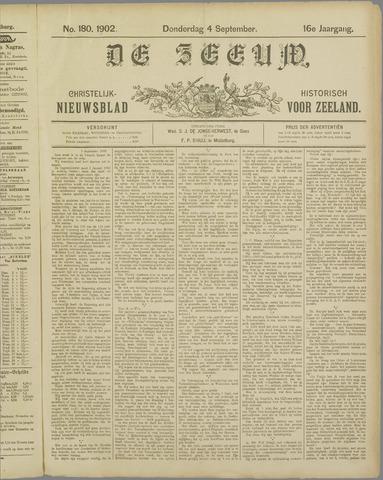 De Zeeuw. Christelijk-historisch nieuwsblad voor Zeeland 1902-09-04
