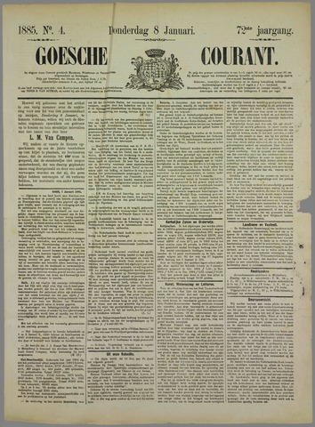Goessche Courant 1885-01-08