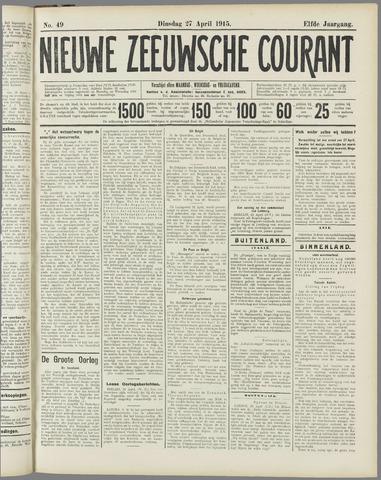 Nieuwe Zeeuwsche Courant 1915-04-27