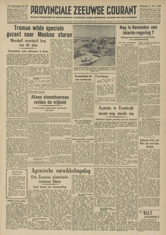 Provinciale Zeeuwse Courant 1948-10-11