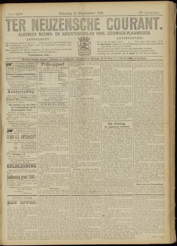 Ter Neuzensche Courant. Algemeen Nieuws- en Advertentieblad voor Zeeuwsch-Vlaanderen / Neuzensche Courant ... (idem) / (Algemeen) nieuws en advertentieblad voor Zeeuwsch-Vlaanderen 1915-09-21