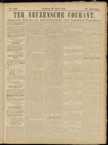 Ter Neuzensche Courant. Algemeen Nieuws- en Advertentieblad voor Zeeuwsch-Vlaanderen / Neuzensche Courant ... (idem) / (Algemeen) nieuws en advertentieblad voor Zeeuwsch-Vlaanderen 1919-04-29