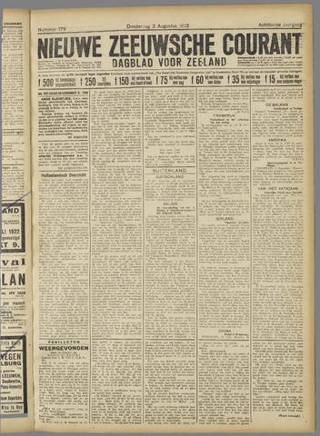 Nieuwe Zeeuwsche Courant 1922-08-03