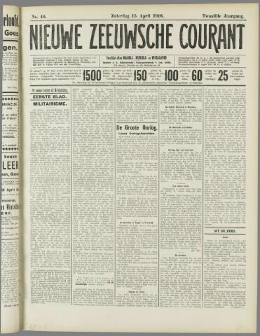 Nieuwe Zeeuwsche Courant 1916-04-15