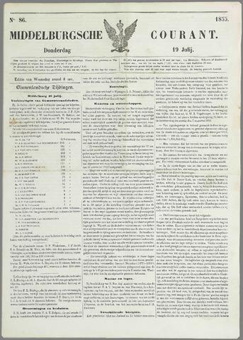 Middelburgsche Courant 1855-07-19
