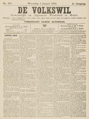 Volkswil/Natuurrecht. Gewestelijk en Algemeen Weekblad te Hulst 1913