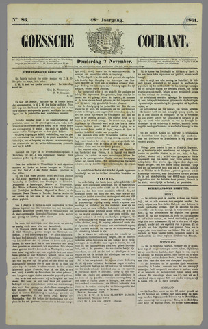Goessche Courant 1861-11-07
