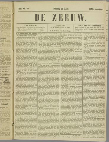 De Zeeuw. Christelijk-historisch nieuwsblad voor Zeeland 1891-04-28