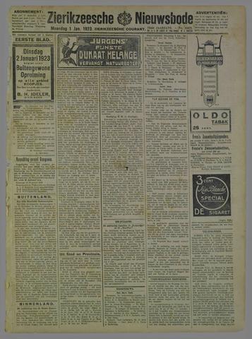 Zierikzeesche Nieuwsbode 1923-01-01