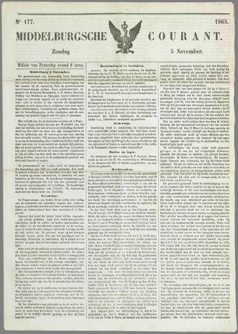 Middelburgsche Courant 1865-11-05