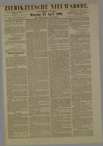 Zierikzeesche Nieuwsbode 1891-04-28