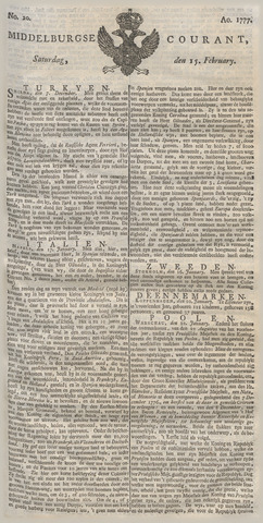 Middelburgsche Courant 1777-02-15