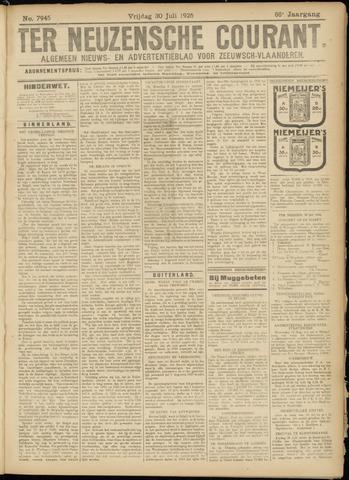 Ter Neuzensche Courant. Algemeen Nieuws- en Advertentieblad voor Zeeuwsch-Vlaanderen / Neuzensche Courant ... (idem) / (Algemeen) nieuws en advertentieblad voor Zeeuwsch-Vlaanderen 1926-07-30