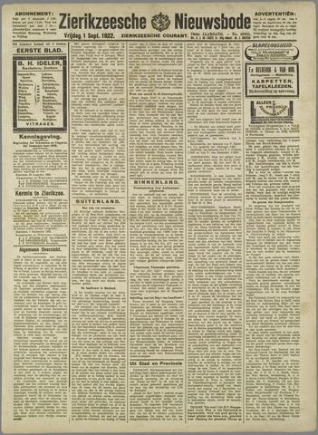 Zierikzeesche Nieuwsbode 1922-09-09