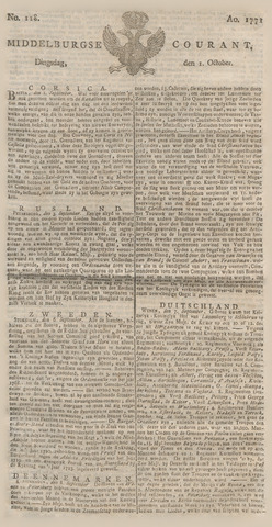 Middelburgsche Courant 1771-10-01