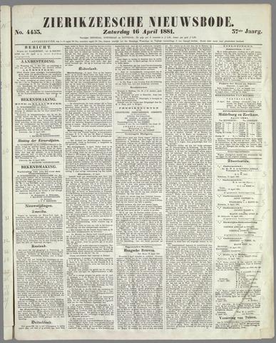 Zierikzeesche Nieuwsbode 1881-04-16