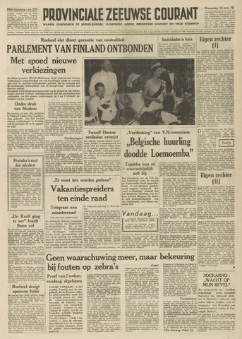 Provinciale Zeeuwse Courant 1961-11-15