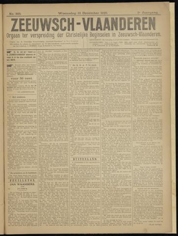 Luctor et Emergo. Antirevolutionair nieuws- en advertentieblad voor Zeeland / Zeeuwsch-Vlaanderen. Orgaan ter verspreiding van de christelijke beginselen in Zeeuwsch-Vlaanderen 1920-12-22