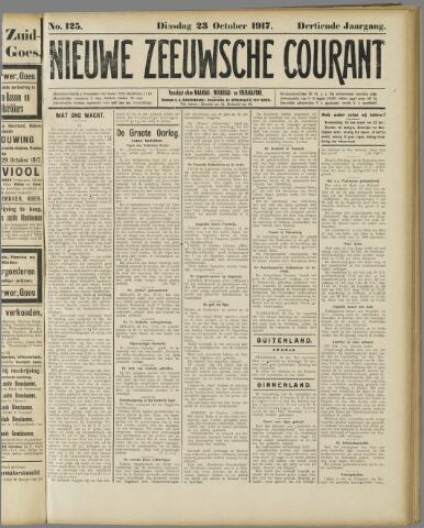 Nieuwe Zeeuwsche Courant 1917-10-23