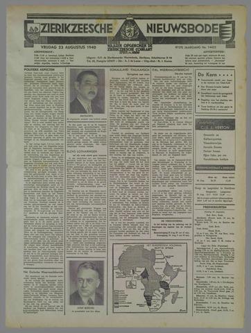 Zierikzeesche Nieuwsbode 1940-08-23