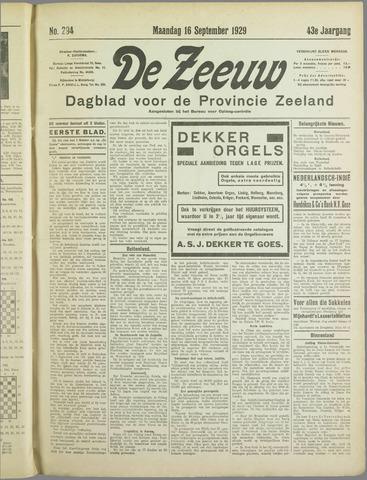 De Zeeuw. Christelijk-historisch nieuwsblad voor Zeeland 1929-09-16
