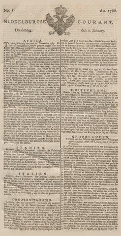 Middelburgsche Courant 1766