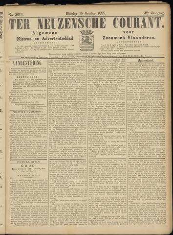 Ter Neuzensche Courant. Algemeen Nieuws- en Advertentieblad voor Zeeuwsch-Vlaanderen / Neuzensche Courant ... (idem) / (Algemeen) nieuws en advertentieblad voor Zeeuwsch-Vlaanderen 1898-10-18