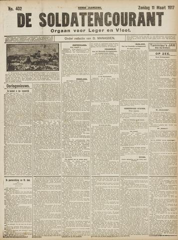 De Soldatencourant. Orgaan voor Leger en Vloot 1917-03-11