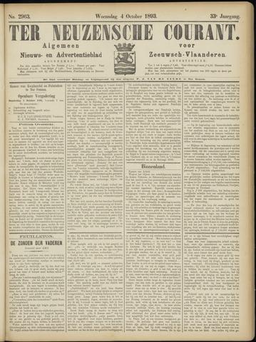 Ter Neuzensche Courant. Algemeen Nieuws- en Advertentieblad voor Zeeuwsch-Vlaanderen / Neuzensche Courant ... (idem) / (Algemeen) nieuws en advertentieblad voor Zeeuwsch-Vlaanderen 1893-10-04