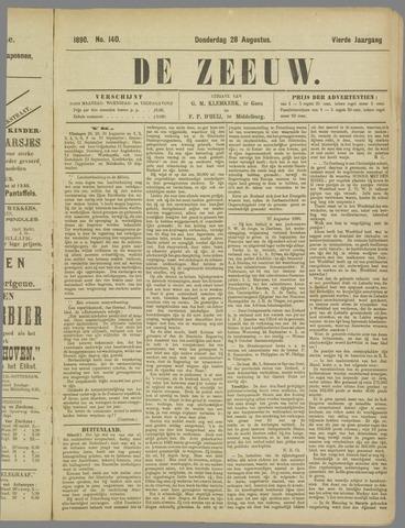 De Zeeuw. Christelijk-historisch nieuwsblad voor Zeeland 1890-08-28