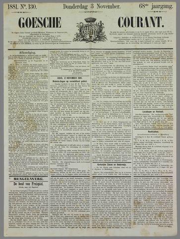 Goessche Courant 1881-11-03