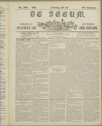 De Zeeuw. Christelijk-historisch nieuwsblad voor Zeeland 1910-07-23