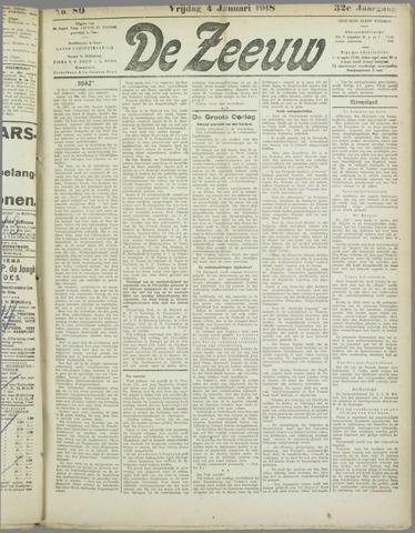 De Zeeuw. Christelijk-historisch nieuwsblad voor Zeeland 1918-01-04