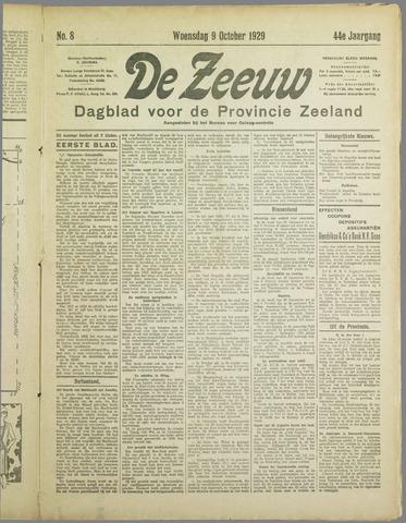 De Zeeuw. Christelijk-historisch nieuwsblad voor Zeeland 1929-10-09