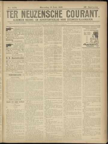 Ter Neuzensche Courant. Algemeen Nieuws- en Advertentieblad voor Zeeuwsch-Vlaanderen / Neuzensche Courant ... (idem) / (Algemeen) nieuws en advertentieblad voor Zeeuwsch-Vlaanderen 1928-06-18