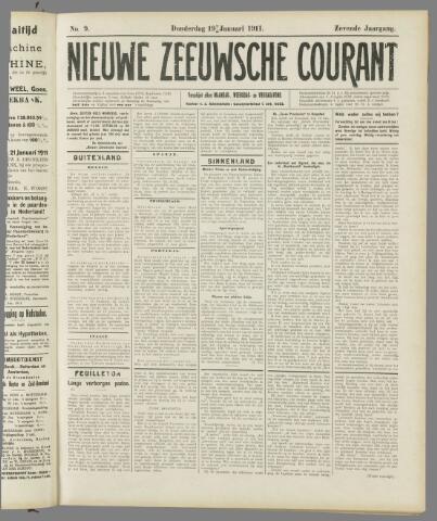 Nieuwe Zeeuwsche Courant 1911-01-19