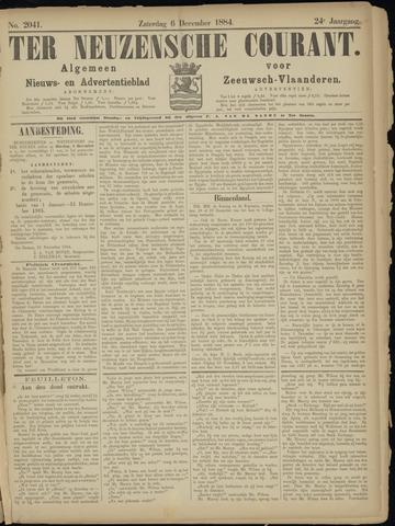 Ter Neuzensche Courant. Algemeen Nieuws- en Advertentieblad voor Zeeuwsch-Vlaanderen / Neuzensche Courant ... (idem) / (Algemeen) nieuws en advertentieblad voor Zeeuwsch-Vlaanderen 1884-12-06