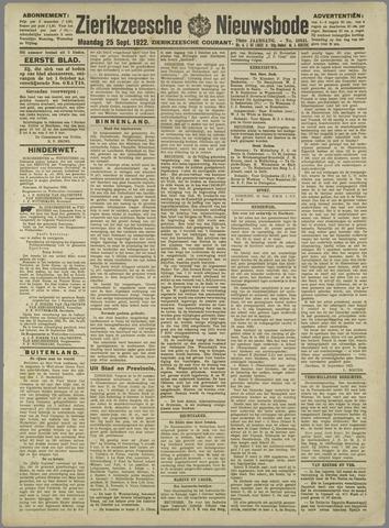 Zierikzeesche Nieuwsbode 1922-09-25