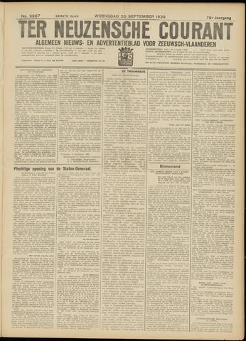 Ter Neuzensche Courant. Algemeen Nieuws- en Advertentieblad voor Zeeuwsch-Vlaanderen / Neuzensche Courant ... (idem) / (Algemeen) nieuws en advertentieblad voor Zeeuwsch-Vlaanderen 1939-09-20