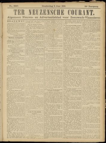 Ter Neuzensche Courant. Algemeen Nieuws- en Advertentieblad voor Zeeuwsch-Vlaanderen / Neuzensche Courant ... (idem) / (Algemeen) nieuws en advertentieblad voor Zeeuwsch-Vlaanderen 1919-06-05