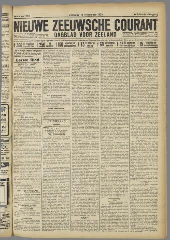 Nieuwe Zeeuwsche Courant 1922-11-18