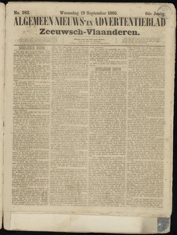 Ter Neuzensche Courant. Algemeen Nieuws- en Advertentieblad voor Zeeuwsch-Vlaanderen / Neuzensche Courant ... (idem) / (Algemeen) nieuws en advertentieblad voor Zeeuwsch-Vlaanderen 1866-09-19
