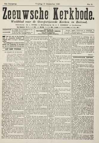 Zeeuwsche kerkbode, weekblad gewijd aan de belangen der gereformeerde kerken/ Zeeuwsch kerkblad 1920-12-17