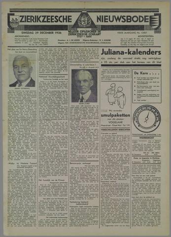 Zierikzeesche Nieuwsbode 1936-12-29