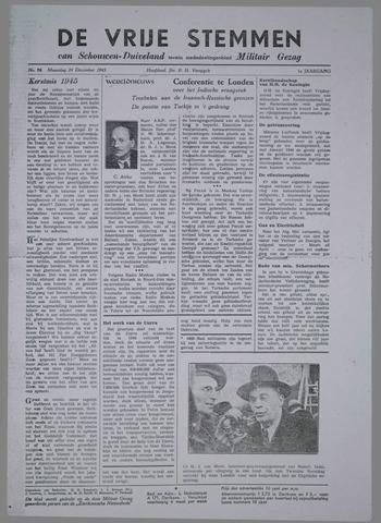 Vrije Stemmen van Schouwen-Duiveland, tevens mededeelingenblad Militair Gezag 1945-12-24
