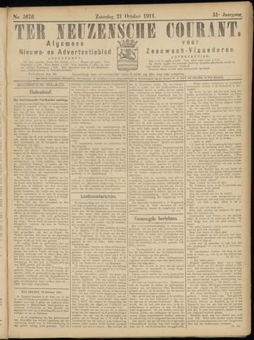 Ter Neuzensche Courant. Algemeen Nieuws- en Advertentieblad voor Zeeuwsch-Vlaanderen / Neuzensche Courant ... (idem) / (Algemeen) nieuws en advertentieblad voor Zeeuwsch-Vlaanderen 1911-10-21