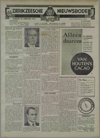 Zierikzeesche Nieuwsbode 1937-02-23